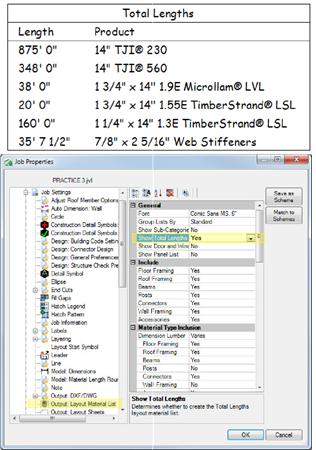 JET-14001 Total Lengths Material List – Trus Joist Technical Support
